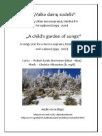 Alkauskas - A Child's Garden of Songs