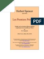 Spencer Premiers Principes