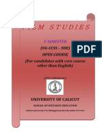 Open Course SDE VSem Flim Studies