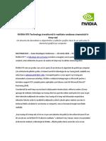 20 03 2018 NVIDIA RTX Technology Transformă În Realitate Randarea Cinematică În Timp Real