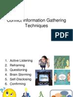 Conflict Information Gathering Techniques