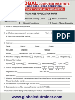 Franchise Applicationform