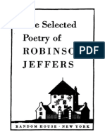 Selected Poetry of Robinson Jeffers Cover