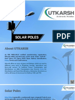 Utkarsh India Limited Solar Poles Manufacturing in India