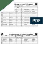 Schema vv IJmuiden 2018-05-12