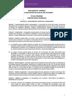 Reglamento General Ase 2010