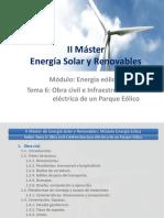 II Master Energía Solar y Renovables-T6_Obra Civil e Infraestructura Eléctrica de Un Parque Eólico