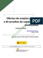 BOLETIN SEMANAL CONVOCATORIA OFERTA EMPLEO PUBLICO DEL 24 AL 30 DE ABRIL DE 2018.pdf