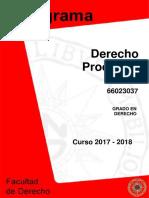 Programa Derecho Procesal i 2017-2018.PDF