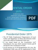Presidentail Order