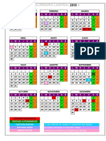 calendario 2018 Asturias