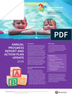 Municipal Early Years Plan 2018 Annual Progress Report 16 May 2018