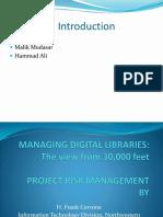 Managing Digital Libraries