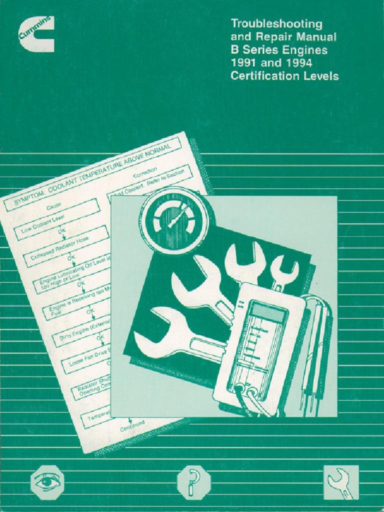 Cummins b series repair manual.pdf | Troubleshooting | Piston