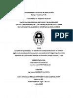 TESIS ESTILOS DE APRENDIZAJE Y COMPRENSION LECTORA