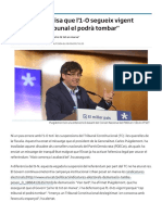 Puigdemont avisa que l'1-O segueix vigent perquè _cap tribunal el podrà tombar_