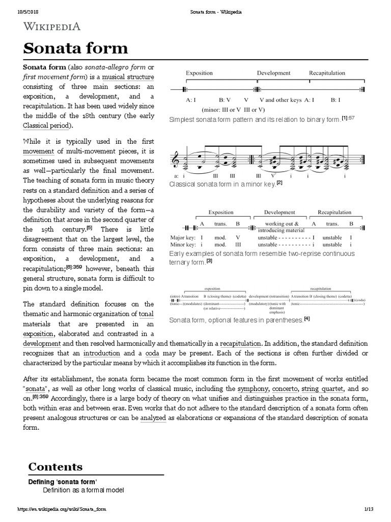 sonata form wikipedia classical compositions. Black Bedroom Furniture Sets. Home Design Ideas