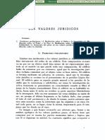 Carlos Cossio Los Valores Juridicos Dialnet