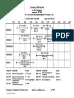 Timetable - BEng (Hons) TwN - Semester 2
