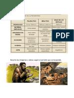 Recorta Las Imágenes de La Prehistoria