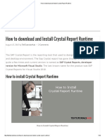 How to Download and Install Crystal Report Runtime