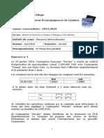 Examen TFI Session Mai 2016 3ème Mastère FEM
