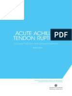 Acute Achilles Tendon Rupture