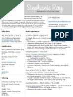 stephanieray resume