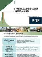 Modelos de Acreditacion - Mayo 2012