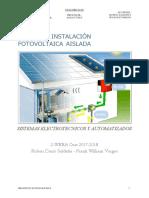Fotovoltaica Acabado