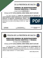 Certificado Final Entrenamiento Canino 2018