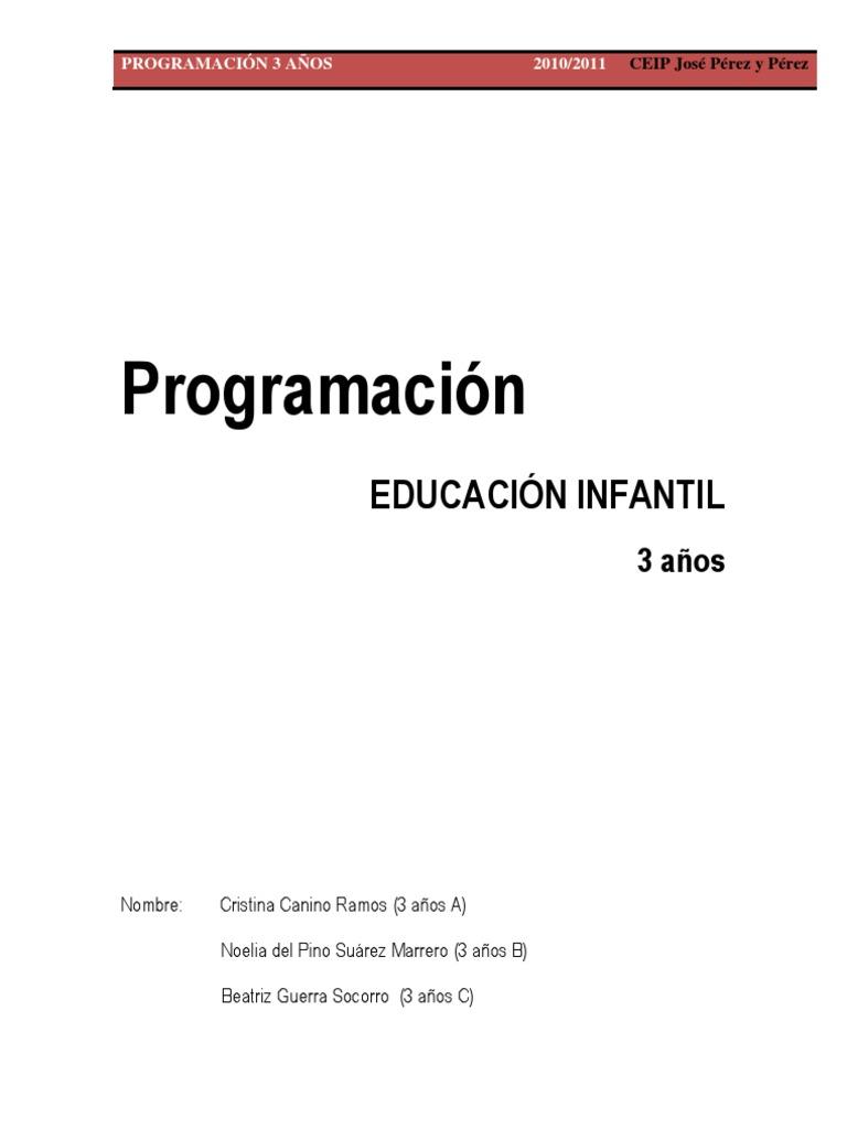 Programación. 3 años
