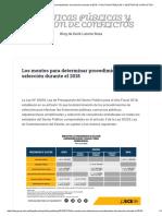 Los Montos Para Determinar Procedimientos de Selección Durante El 2018 – POLÍTICAS PÚBLICAS Y GESTIÓN de CONFLICTOS