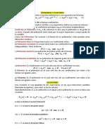 Polinomios y Ecuaciones