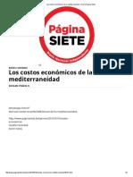 Los Costos Económicos de La Mediterraneidad - _Diario Pagina Siete