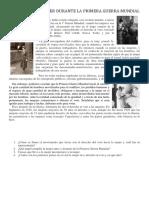 El Papel de La Mujer Durante La Primera Guerra Mundial