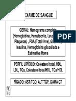 Lista de Exames e Seus Parâmetros Do Dr. Lair Ribeiro
