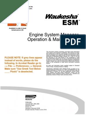 waukesha esm software download
