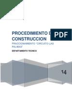 Procedimiento de Construccion