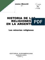 Bianchi Religiones Menores Indice
