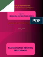 examen clínico regional preferencial
