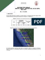 Informe Del Sismo de Chimbote, Santa - Ancash