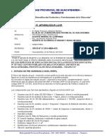 Informe Nºx Del Expediente Del Colegio Bello Progreso.