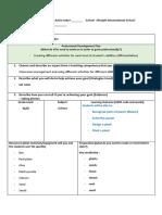 lesson plan template - plants