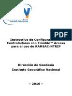 Configuración NTRIP Con Controladora Trimble