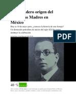 El Verdadero Origen Del Día de Las Madres en México
