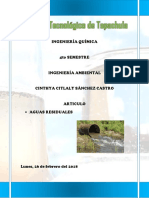Aguas Residuales Ingenieria Ambiental