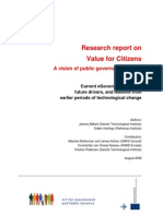 Research Report on Value for Citizens