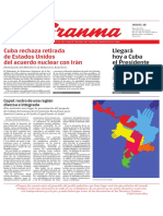 Diario Granma. 10 de mayo de 2018.