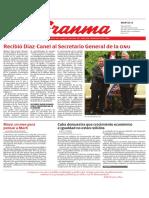 Diario Granma. 8 de mayo de 2018.